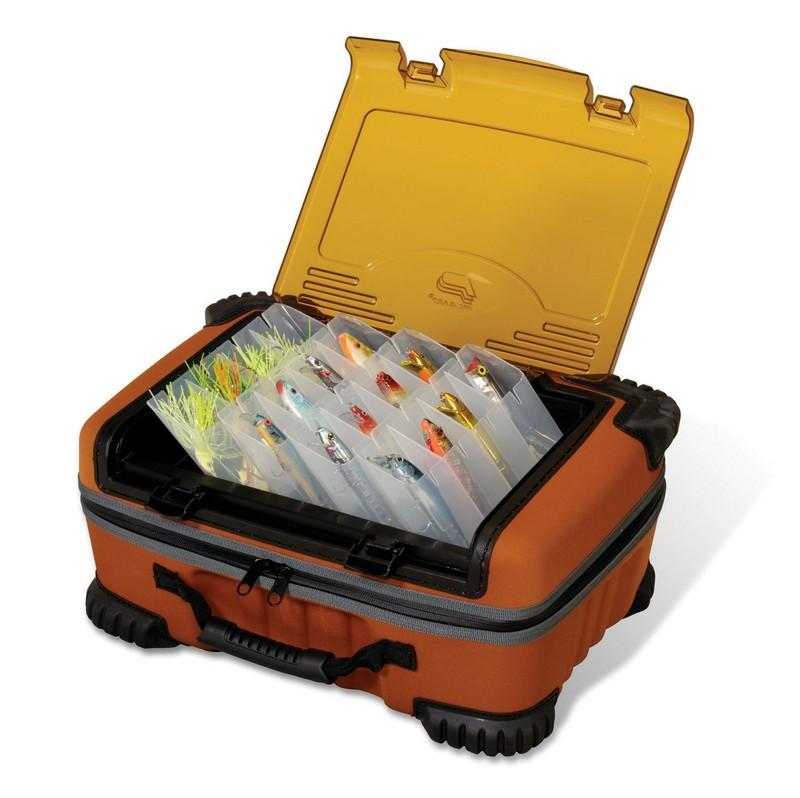 коробки с сумками для снастей